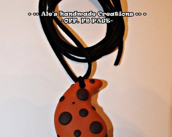 Necklace in Fimo ' Drips '
