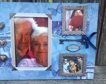 Vintage photo frame, Key to my happiness