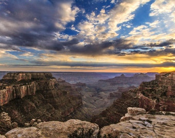 Grand Canyon Photography | Sunset Photos | Landscape Photography | Sunset on the North Rim | Cabin Art Wall Art Fine Art