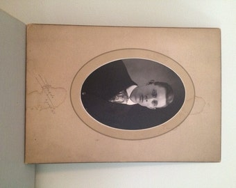Victorian Cabinet Card, Vintage Photograph of Man in Suit