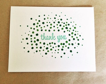 Thank You Card Hand-Made, Hand-Painted, Hand-Stamped