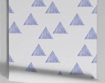 Wallpaper blue Triangle