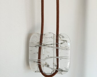 Transparent Fused Glass Necklace