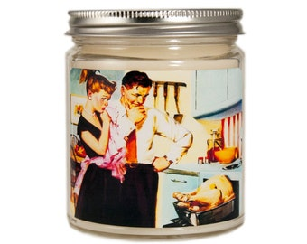 Thanksgiving Candle, Fall Candle, Custom Scented Candle, Vintage Candle, Container Candle, Soy Candle, Holiday Candle, Hostess Gift