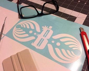 Bassnectar B LOGO Vinyl Decal White #Dubstep #Electronica #Bassnectar