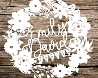 iDESIGN Wedding Gift / Wedding Anniversary Papercut