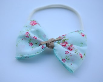 turquoise floral bow