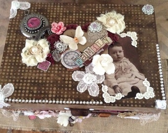 Altered vintage Jewelry Box