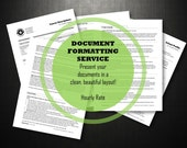 Document Formatting Service - one hour of personalized design services