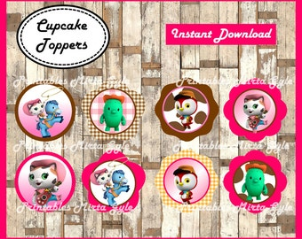 Sheriff Callie cupcakes toppers, printable Sheriff Callie party toppers, Sheriff Callie's Wild West cupcakes toppers