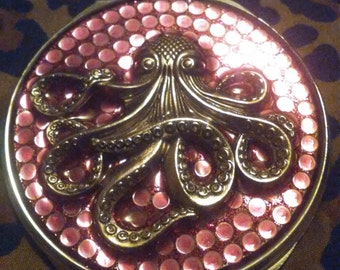 Steampunk Octopus Mirror Compact