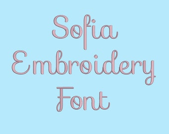 Sofia Embroidery Fonts  5 Sizes Machine Embroidery Font PES fonts Instant Download 8 Formats Embroidery Pattern