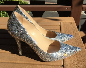 Swarovski Crystal Strass Cinderella Shoes