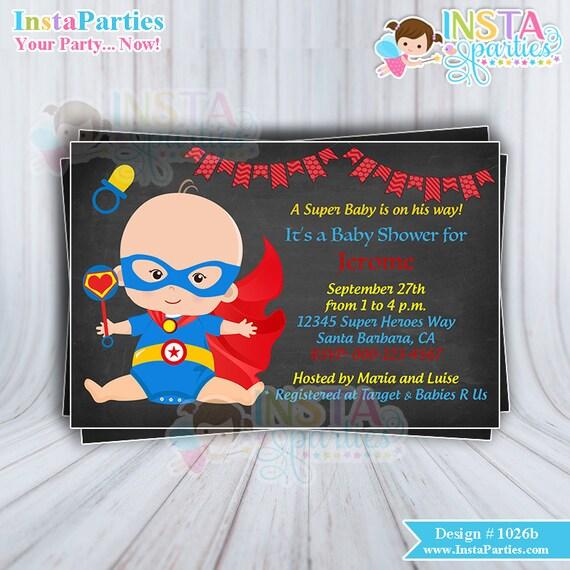 superhero baby shower invitations boy superheroes invitation baby