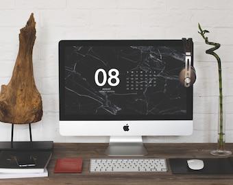 Marble Desktop Calendar, 2016-2017 Calendar