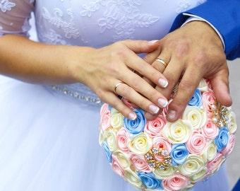 Bridesmaids bouquets. Wedding set! Brooch bouquet, bridal bouquet, wedding bouquet, wedding set, boutonniere, pink bouquet,