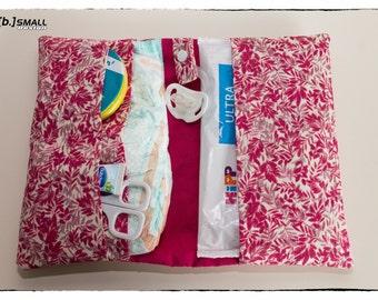 """B.strapped"" pink diaper bag"