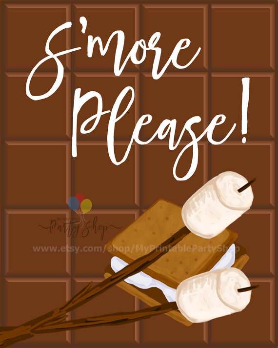 S'mores And Bonfire Party Sign