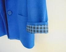 Vintage Ladies Coat - Blue, Size 14. Made in Australia