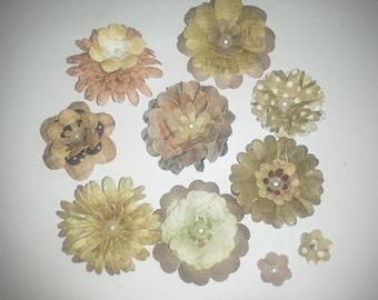 Handmade 3D paper flowers
