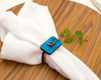 Monogram - Napkin Ring - Wooden