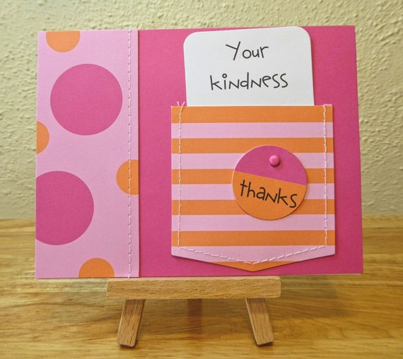 Thank You Handmade Card - luxury personalised unique quality special bespoke UK