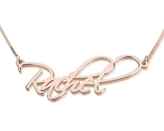 NESSA Script Name Necklace
