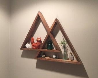 Mountain Triangle Shelf | Geometric Shelf | Floating Shelf