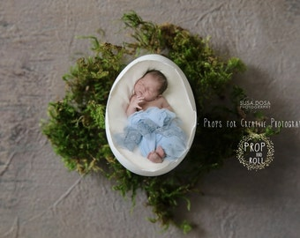 Newborn Backdrop Prop - Egg Shell newborn digital backdrop, EGG, nest, natural colors, photographie bébé, Neugeborene, bambino fotografia