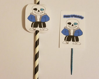 Undertail straw and cup cake toppers 24pcs.