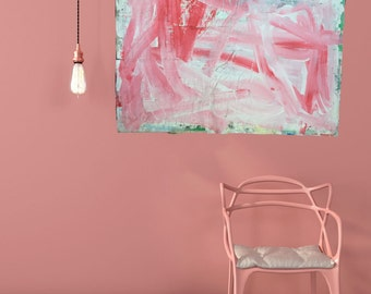 Painting art poster White Pink Pink red 70x90cmpacking