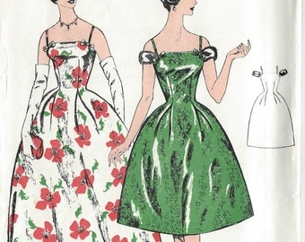 1950s Vintage Sewing Pattern B40 DRESS (1324) Le Roy 602