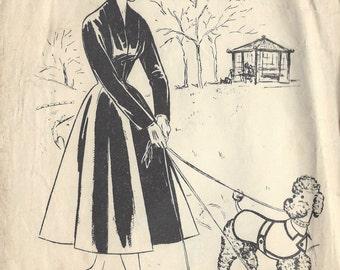 "1950s Vintage Sewing Pattern DOG JACKET & COLLAR Length:18"" (R233) Ler Roy 1102"