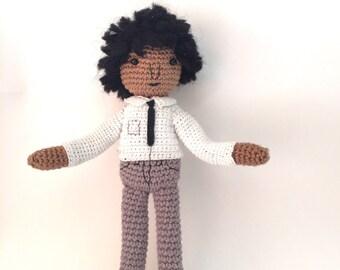 amigurumi crochet doll, boy