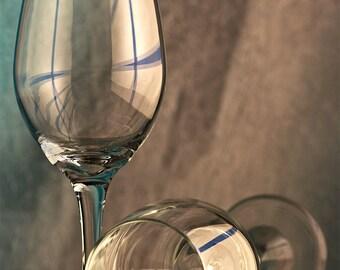 Wine Glasses, Still photography, fine art, wall decor, restaurant decor, Canon cameras, Photoshop, fine art