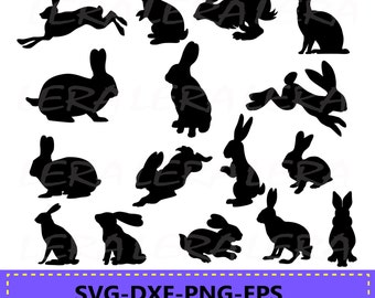 60 % OFF, Bunnies svg, Rabbits Silhouettes, Bunny Silhouette, Bunny Silhouettes, Easter Bunny Clipart, svg, dxf, eps, ai, png, Rabbits svg