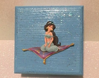 Princess Jasmine Jewelry/Memory/Keepsake Box; Princess Jewelry Box