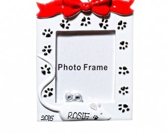 Personalized Ornament-Cat Frame- Free Gift Bag Included