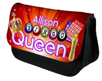 Personalised Make Up Bag/Pencil Case Bingo Queen  by Inspired Creative Design