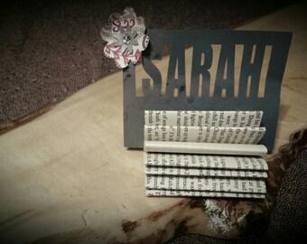 20 Name Tag Holders-Vintage Mini Book