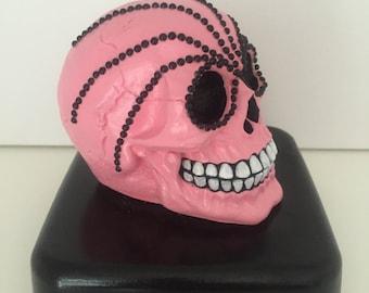 Hand Cast, hand painted custom skulls
