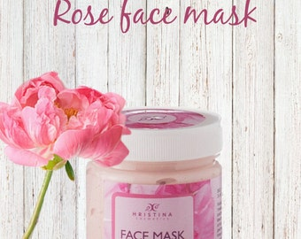 Face Mask with Rose for glowing skin