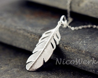 Silver necklace with pendant necklace ladies jewelry 925 Silver Chain gift 367