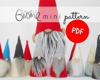 MINI Scandinavian Gnome Pattern | PDF | Nordic Gnome | Digital DownLoad | Tutorial | Christmas | DIY |