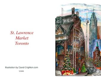 Card Christmas St. Lawrence Market, Toronto by David Crighton