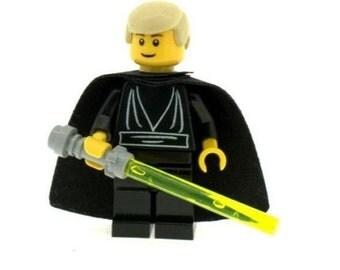 Custom Design Minifigure - Luke Skywalker (Star Wars - Black) Printed On LEGO Parts