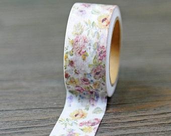 Washi Tape, Masking Tape, tape adhesive scrapbooking VINTAGE flower
