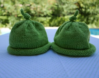 Two Peas in a Pod -- baby hats