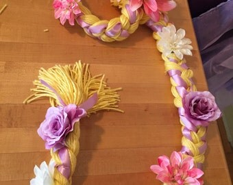 Tangled Rapunzel Hair Yarn Braid