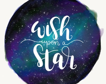 Wish Upon a Star Galaxy Digital Print